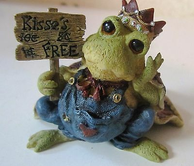 Kiss The Ugly Frog (Wearing a Crown) That Turns To Prince Charming Figurine