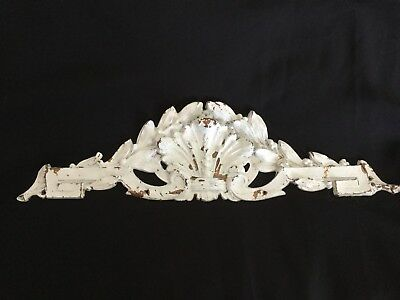 Vintage Distressed White Over Gilt Decorative Moulding Regency. Shabby Chic