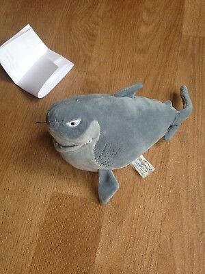 Disney Store Finding Nemo Shark Bruce Soft Toy Plush Beanie