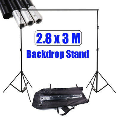 Professional Photo Studio 2.8x3m Backdrop Background Stand Support Heavy Duty UK