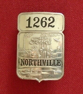 Ford Northville Employee Plant Badge Pin # 1262.