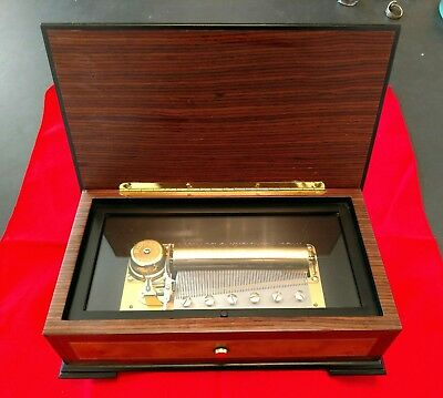 Vintage Reuge 72 Note Music Box Pachelbel's Cannon in D - Swiss 3/72