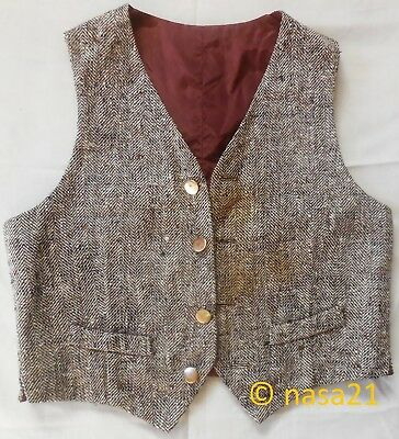 vest, child's, raw silk, hand-made, vintage early 1960s