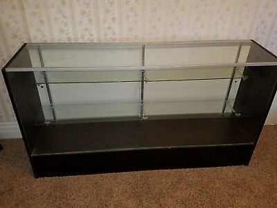 Large Retail Store Commercial Cabinet Glass Adjust Shelves Counter Display Case