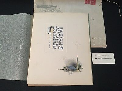 Vintage Annapolis USNA Christmas Card from 1920