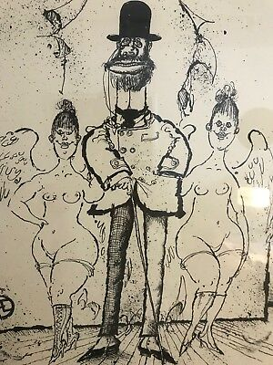 """Ronald Searle Lithografie """"The second coming of Toulouse Lautrec"""""""