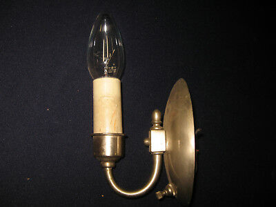 Vintage Art Deco 1920s Lightolier After Sunset Wall Sconce Nicke Brass Stainless