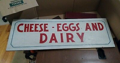 Wooden Cheese - Eggs-And -Dairy  Sign