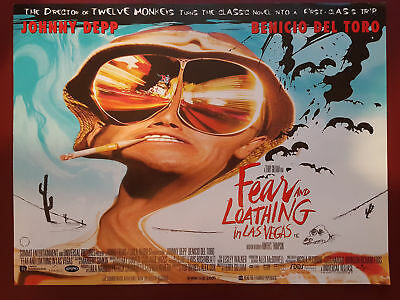 Fear and Loathing In Las Vegas Orginal Mini Cinema Movie Poster 1998 Johnny Depp