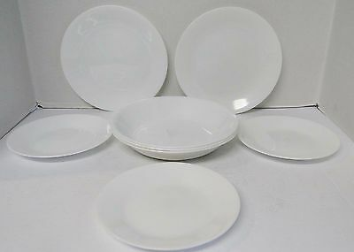 Corelle WINTER FROST WHITE 3 Soup, 3 Bread & Butter, 2 Luncheon Plates