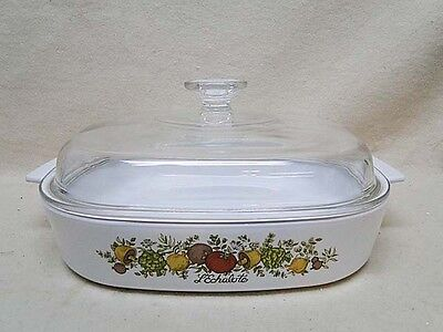 """Corning Ware SPICE OF O' LIFE 10"""" Skillet w/ Dome Lid A-10"""