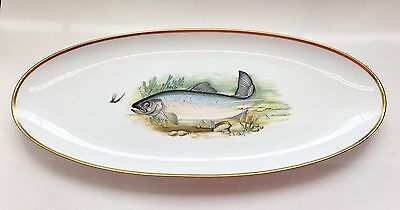 """Wallace Hutschenreuther Germany Large Serving Plate 22 3/4"""" """"Landlocked Salmon"""""""
