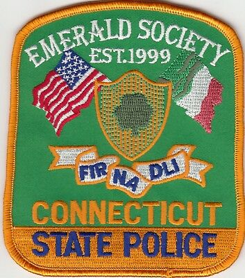 Emerald Society Connecticut Ct State Police Patch