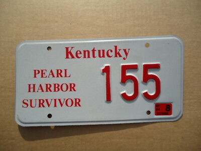 "2004 Kentucky ""Pearl Harbor Survivor"" license plate"