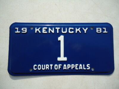 "1981 Kentucky ""Court of Appeals"" license plate"