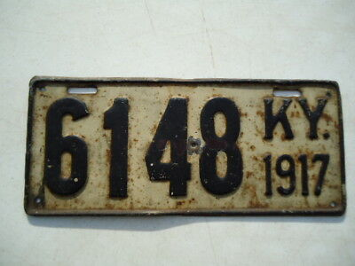 1917 Kentucky license plate