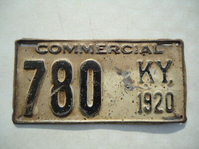 1920 Kentucky truck license plate