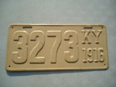1916 Kentucky license plate