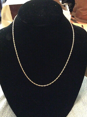 Retired James Avery 14K Gold Light Rope Chain Necklace 18""