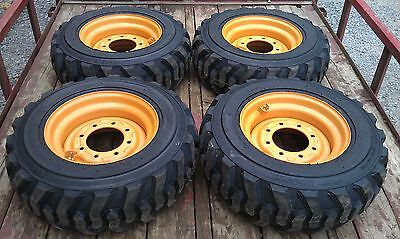 4 NEW 10X16.5 Skid Steer Tires & Rims for Case - 6 or 8 lug - 10-16.5 - 10 ply