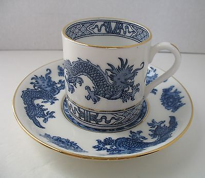 Hammersley DRAGON Blue Demistasse Cup & Saucer E570