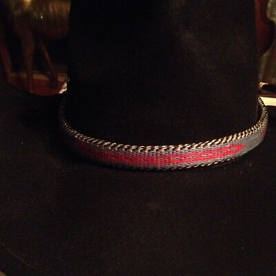 Montana State Prison Made Hitched Horse Hair Hat Band (New) #2