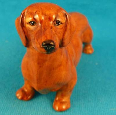 Royal Worcester dachshund Doris Lindner doxie dog 3294 OLD 1941 England vintage