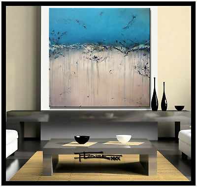 LARGE ABSTRACT PAINTING MODERN CANVAS WALL ART Framed USA ELOISExxx