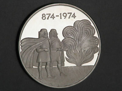 ICELAND 1974 1000 Kronur 1100 Years Settlement Silver Crown Proof