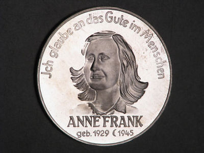 ISRAEL Medal Circa  1970's Anne Frank Silver 36mm Proof