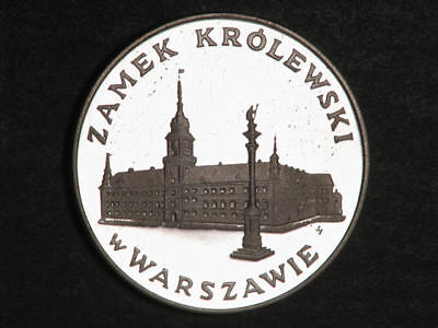 POLAND 1975 100 Zlotych Warsaw Castle Silver Proof