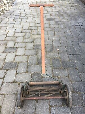 Antique Great States Push Rotary Reel Lawn Mower USA