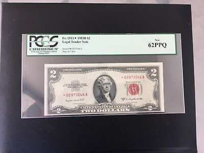 Fr 1511 * 1953B $2  Pcgs 62Ppq New  **star Note**