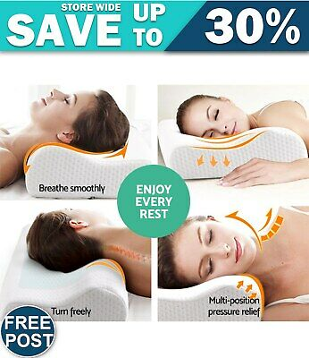 Quality Set of 2 Cool Gel Top Memory Foam Pillow FAST & FREE POSTAGE WARRANTY