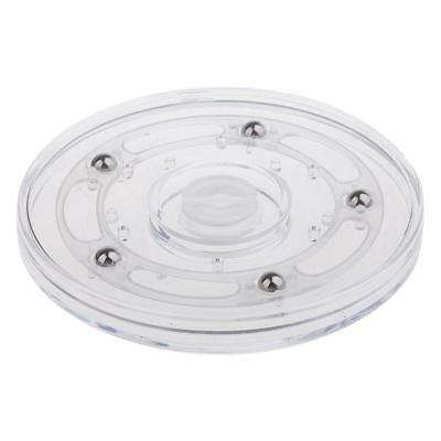 360 Rotating Disc Turn Table for Store Office Replacement Props 4inch Clear