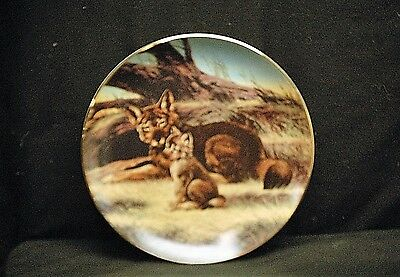 The Red Wolf Collector Plate 1989 The Endangered Species by W.S. George 10635 D
