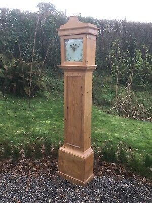 Antique Pine Long Case Clock For Restoration