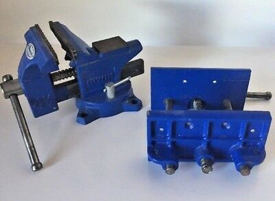 Irwin Woodworkers Vise and 4.5 inch bench clamp steel and wood usage