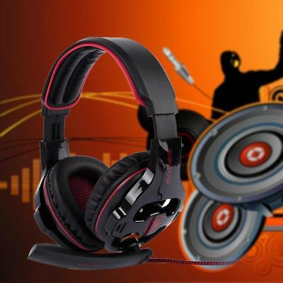 Sades SA903S 7.1 Surround Sound PC Stereo Game Headset with Microphone BlacG