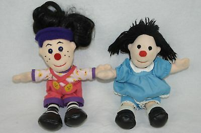 "Vintage 1990's Big Comfy Couch 9"" Molly & Loonette Bean Bag Plush Dolls Rare Htf"