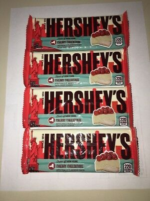 Hershey's Flavor Of New York 4 Bar Lot Cherry Cheesecake NYC Limited Edition