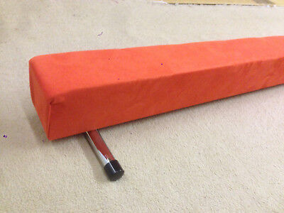LIMITED EDITION finest quality gymnastics gym balance beam 8FT long NEW ORANGE 1