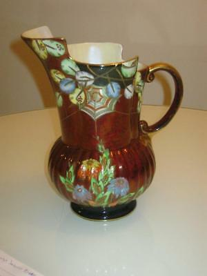 Stunning Rare  Vintage Crown Devon Fieldings Spiders Web Ewer