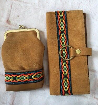 Vintage Tex-Mex Wallet And Coin Purse