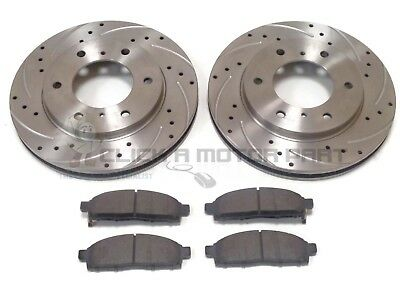 FRONT AND REAR BRAKE DISCS /& PADS NEW FOR MITSUBISHI SHOGUN WARRIOR SPORT 01-06