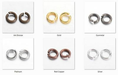10 gms - Round jump rings 6mm Diameter, 1mm thick - approx 100 rings