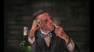 "PEAKY BLINDERS Arthur Shelby  PICTURE CANVAS WALL ART ""30X18"""