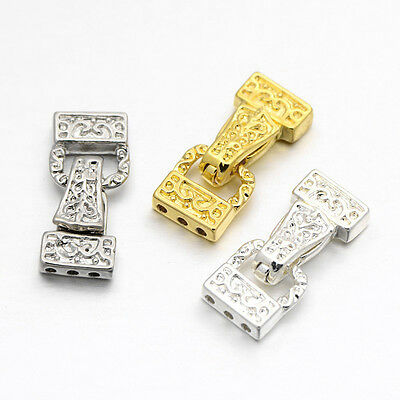 3-Strand Triangle Alloy Magnetic Clasp 23mm x 10mm x 5mm