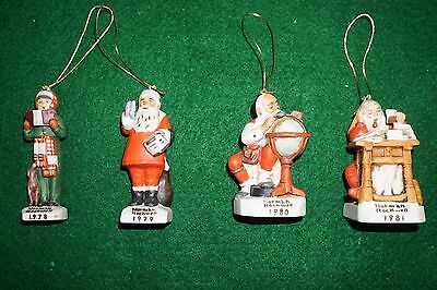4 Norman Rockwell Christmas ornaments by Dave Groosman years 1978 - 81