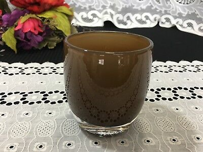 "Glassybaby ""Chocolate"" Votive 3 5/8"""